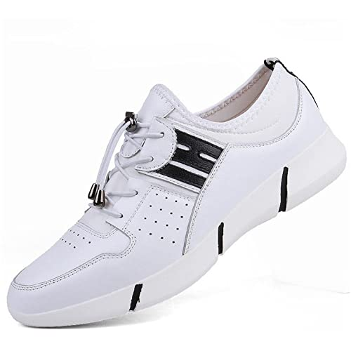 New Zapatillas de Deporte de Cuero para Hombres 2018 Primavera/Verano Zapatos Deportivos de Cuero