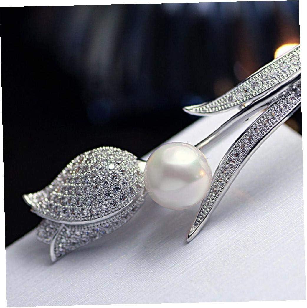 Tulip Pearl Spilla Spilla Fiore creativo alla moda con Perla Spille Pins regalo per i gioielli Accessori Bigiotteria dargento dei monili del partito delle donne