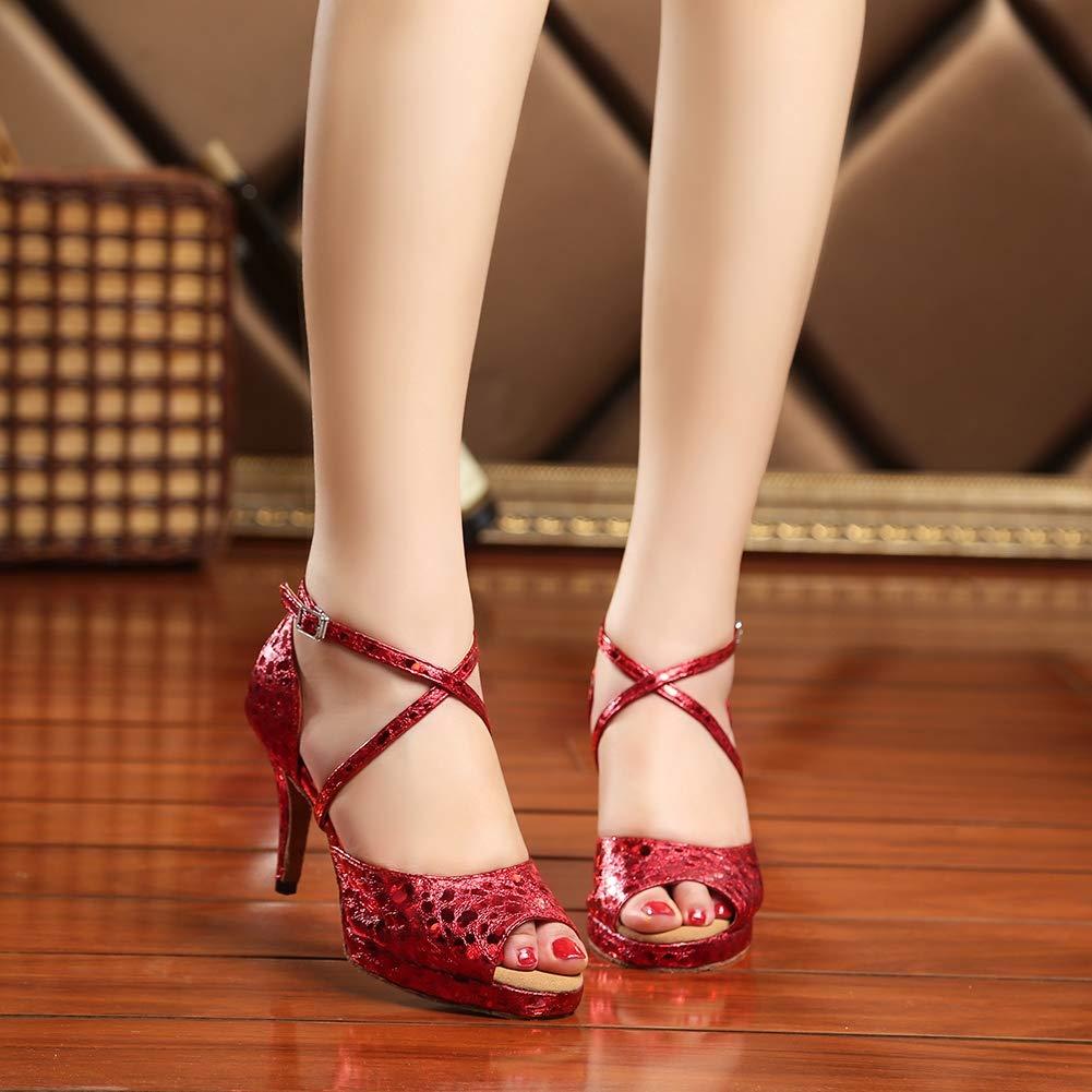¥schuhe Damen PU Lateinische Tanzschuhe Wasserdichte Wasserdichte Wasserdichte Plattform Hoher Absatz Gemütlich Weicher Tanzschuhe 406338