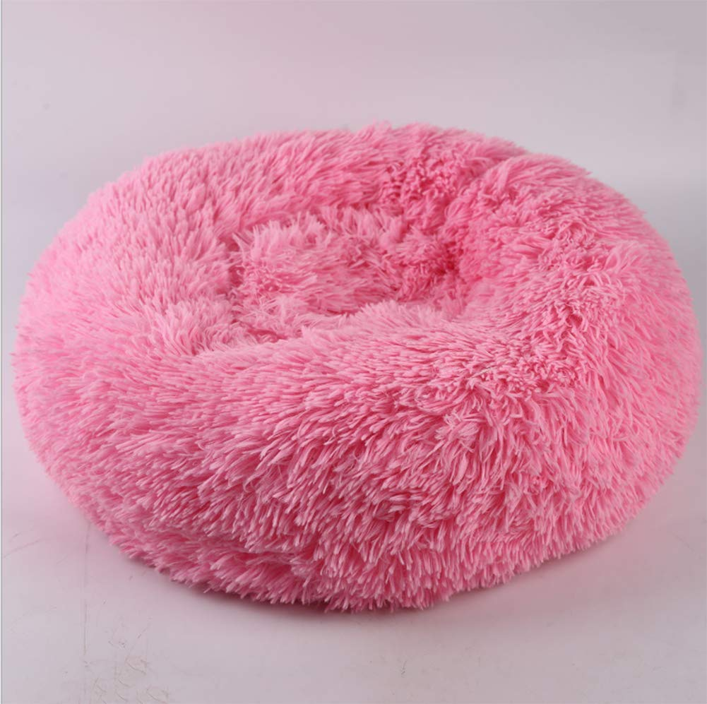 Pink LargePet Supplies Dog Mats are Not Removable and Washable Teddy Autumn and Winter Warm Plush Small and MediumSized Dogs Kennel Cat Litter