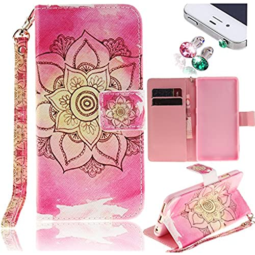 Samsung Galaxy S7 Edge Case, Pershoo 4 in 1 Set PU Leather Color Print Stand Credit Card Holder Magnetic Snap Sales