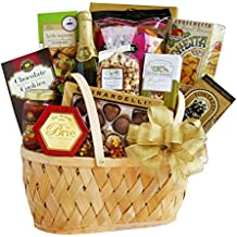 Gift Basket | Sparkling Cider, Chips, Salsa, Almonds, Cheese Spread, Chocolate and More