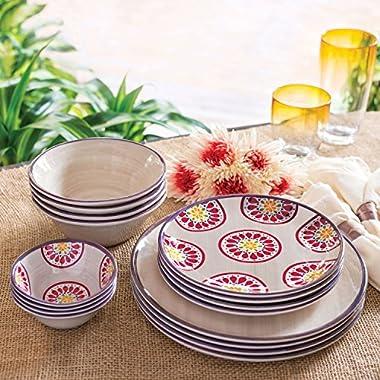 Melamine Dinnerware 16-Piece Set (Ivory)
