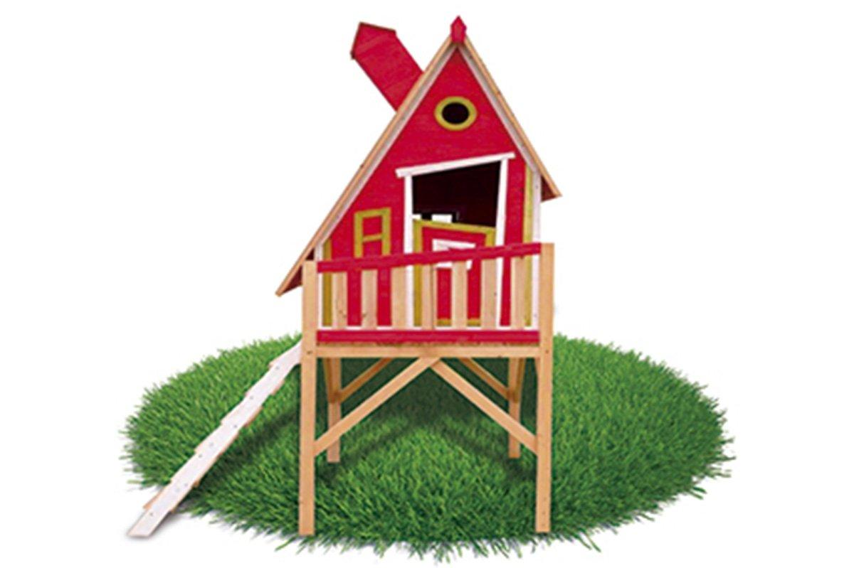 Casita Infantil de Madera Outdoor Toys Gulliver (Rojo)