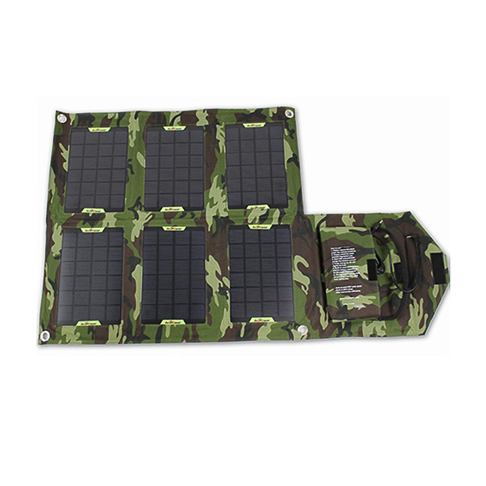 Eljet 21W Folding Solar Charger, Army Grün, S