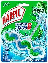 Harpic Pastilla Desodorante para Inodoro, Frescura Activa, Aroma Pino