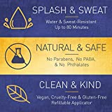 Brush On Block Mineral Sunscreen Powder, Refillable Broad-Spectrum SPF 30, Safe for Sensitive Skin, UVA UVB Face Protection, Natural, Reef Friendly