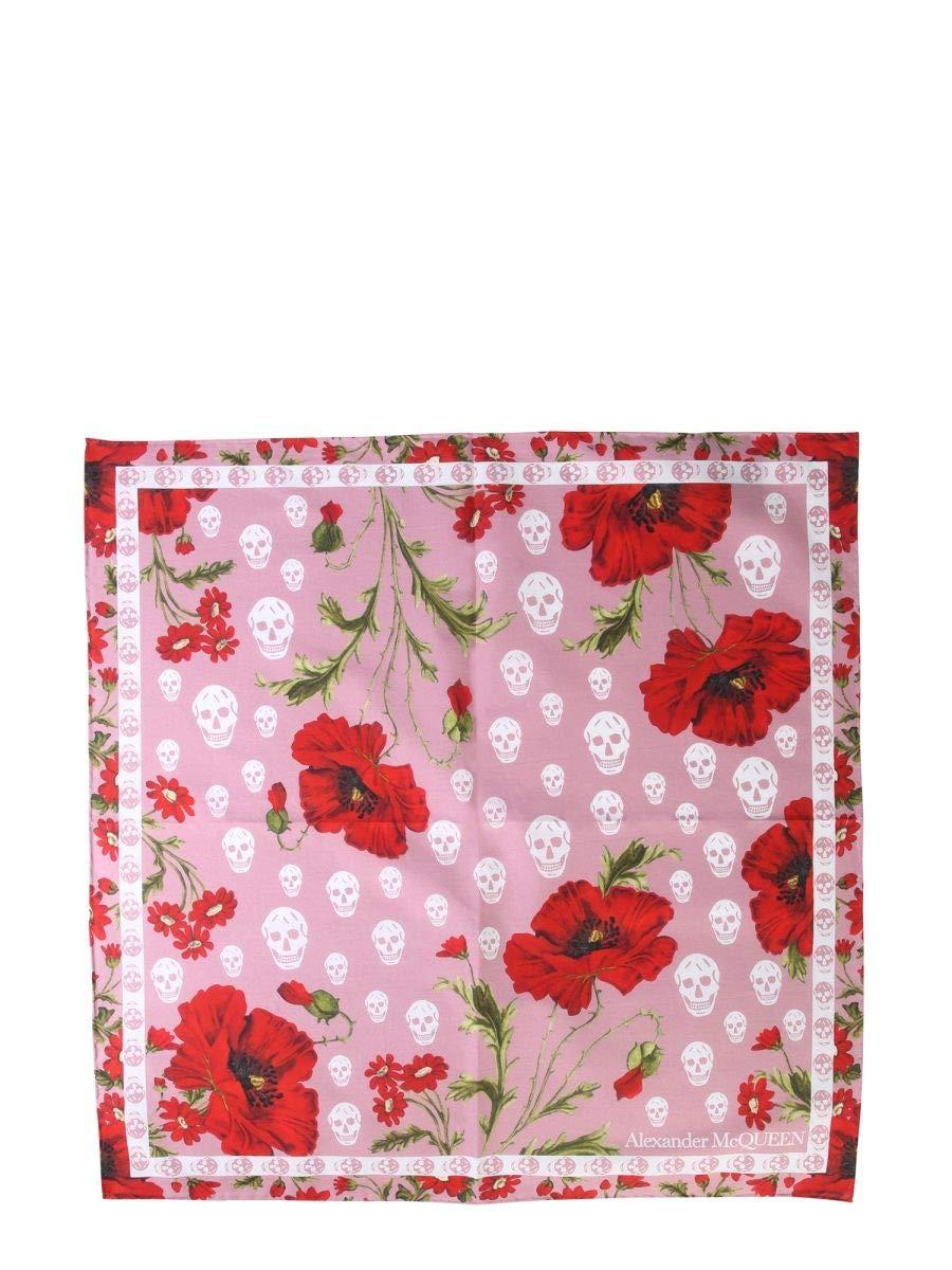 Alexander Mcqueen Women's 5701413105Q5974 Pink Cotton Foulard