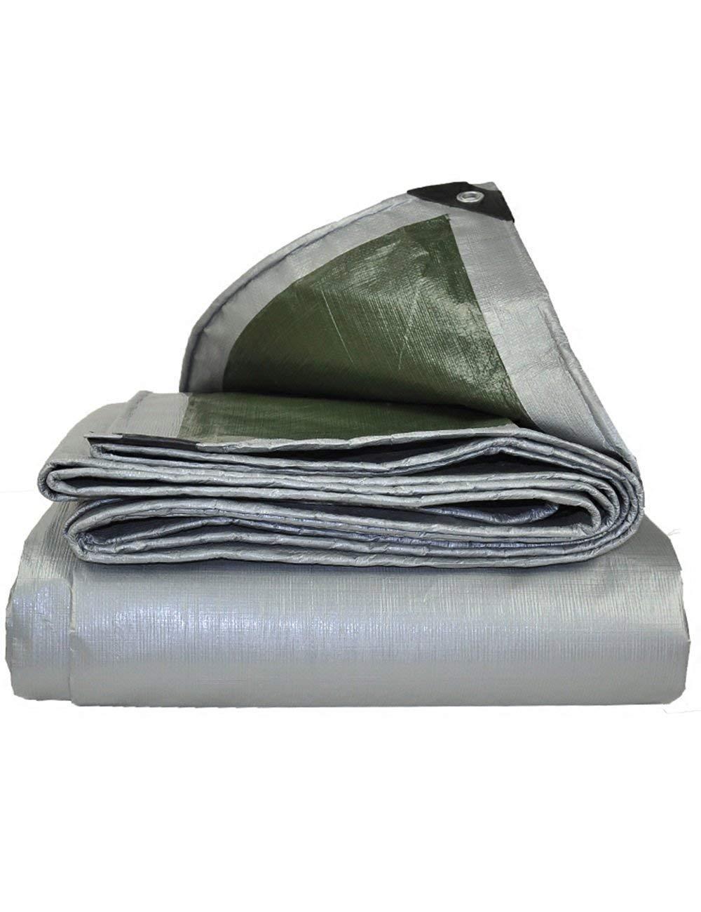 Fonly Silberne Wasserdichte Plane-Abdeckung Verdicken Tarp-Zelt-kampierenden Hochleistungsfarbton