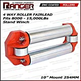 """Ranger Jeep / Truck / Pick Up Winch Roller Fairlead 10"""" (254MM) Mount For 8000-15000 LBs Stand Winch by Ultranger Glossy (Orange)"""