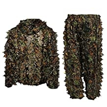 Elisona-Woman Men Camouflage Clothing Ghillie Suit Jungle Camouflage Clothes for Hunting Shooting Birdwatching