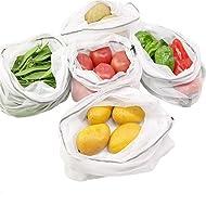 LUCKIPLUS Reusable Produce Bags Premium Washable Eco Friendly Mesh Bags