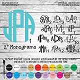 "2"" Monogram Letters Vinyl Die Cut Decal Sticker for Car Laptop etc."