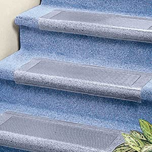 Clear Stair Treads Carpet Protector: Amazon.co.uk: Kitchen ...