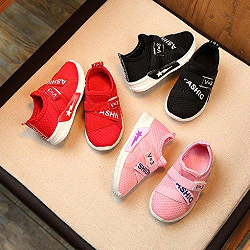 BZLine® Babys Casual Sneakers Sport Schuhe Outdoor running shoes Schwarz