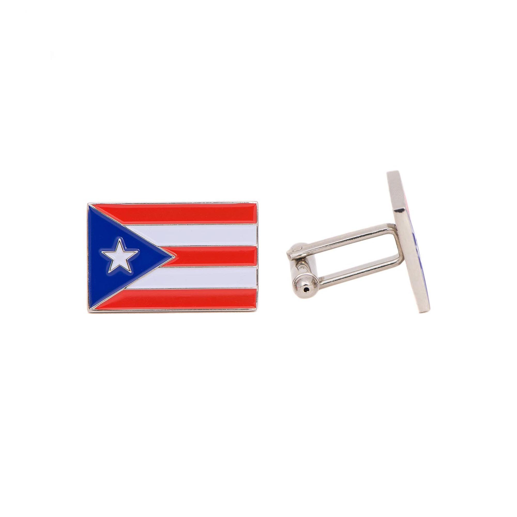 Desert Cactus Puerto Rico Rectangle State Flag Cufflinks Formal Wear Blazer For French Cuff Shirt Puerto Rican