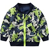 EISHOW Kids Baby Boys Long Sleeve Dinosaur Fall Coat Outwear Infant Toddler Hoodie Hooded Zip-up Thin Jacket Clothes