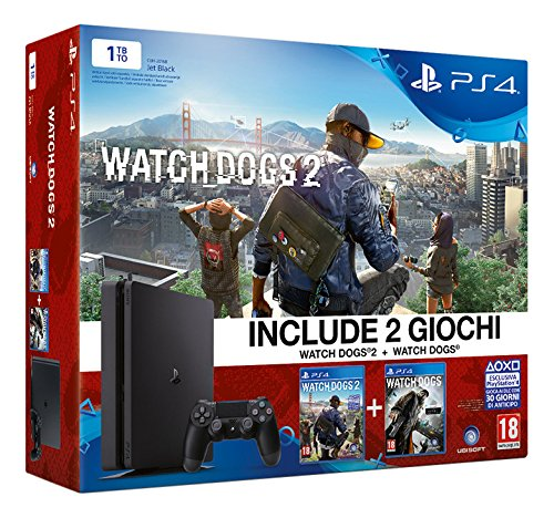 16 opinioni per PlayStation 4 1 Tb D Chassis Slim + Watch Dogs 2 + Watch Dogs [Bundle]