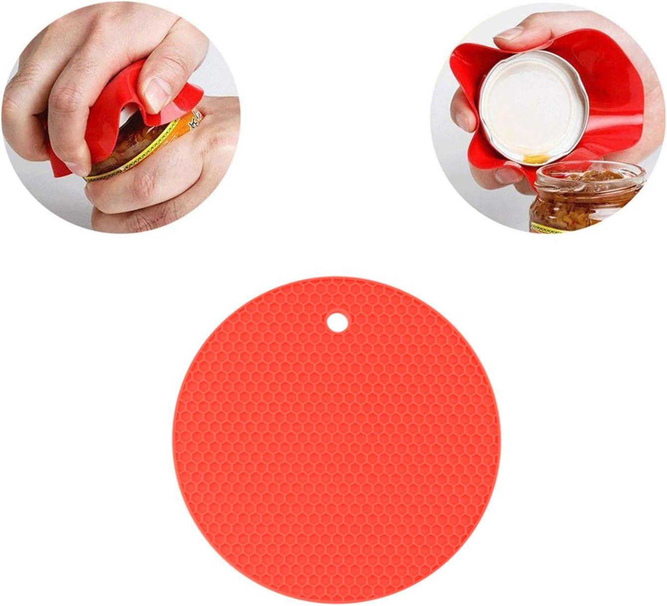 Senior Arthritis Hands Jar Grip Opener Bottle Opener Set of 3,Multi Kitchen Tools Set,Rubber Jar,Non Slip Gripper Pad,Jar Openers Get Lids Off Easily for Weak