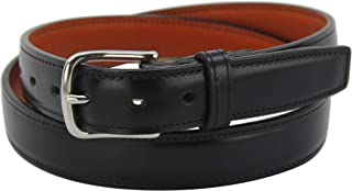 "product image for Men's Black Italian Leather Belt –Single Stitched Dual Layered -1.25"" Wide, 40"""