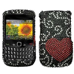 Curve Heart Diamante Protector Cover for RIM BlackBerry 8520 (Curve), RIM BlackBerry 8530 (Curve)
