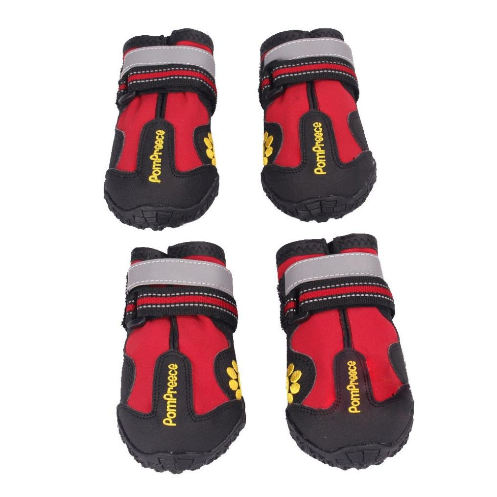 GBSELL Waterproof Pet Boots for Medium to Large Dogs Labrador Husky Shoes 4 Pcs (4)
