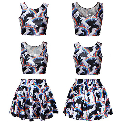 [Cheerleader Uniform Skirt, Joberry Womens Halloween Xmas Party Cheer Leader Costume, 2 Pieces Fancy Outfit Dress Tight Tops (#4)] (Glee Cheerleading Outfit)