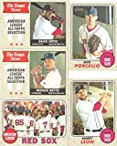 Boston Red Sox 2017 Topps Heritage Baseball Series Basic 15 Card Team Set with Andrew Benintendi Rookie and David Ortiz Plus