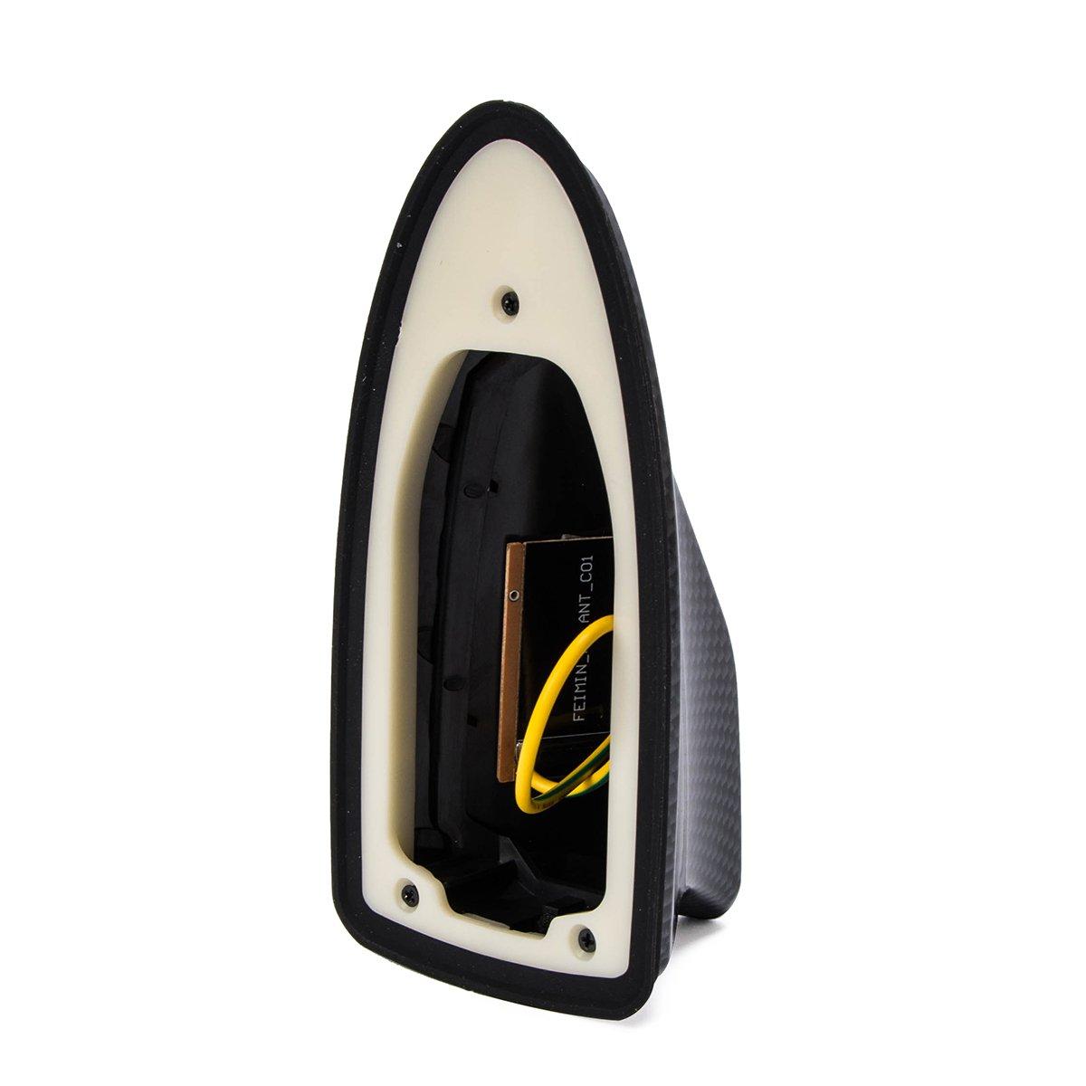 elegantstunning 1511055//YCL-566P Antenne de Signal AM//FM pour Voiture Motif aileron de Requin Argent/é