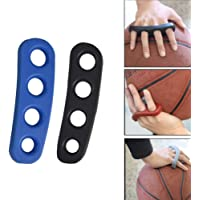 CoWalkers basquetbol Entrenamiento,Baloncesto Shooting Trainer Training Aid for Youth and Adult Silicone Shot Lock Hand Palm Orthotics (Azul/Negro 2 Pcs)