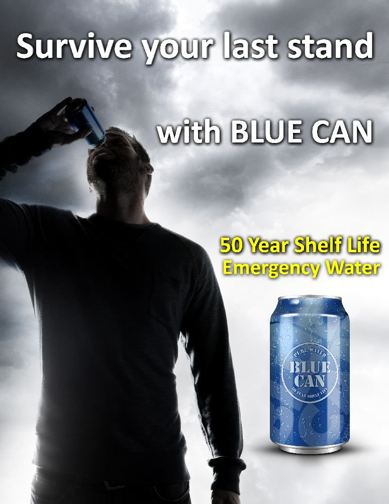 Blue Can - Premium Emergency Drinking Water (48 Cans) by Blue Can (Image #3)