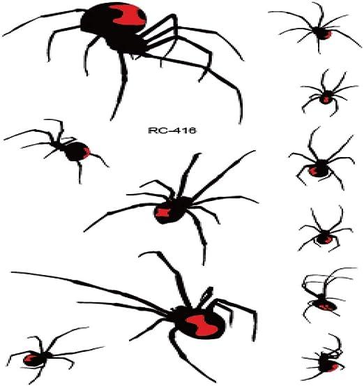 adgkitb 5piezas 3D Spider Tatoo Scorpion Pegatinas de Tatuaje ...