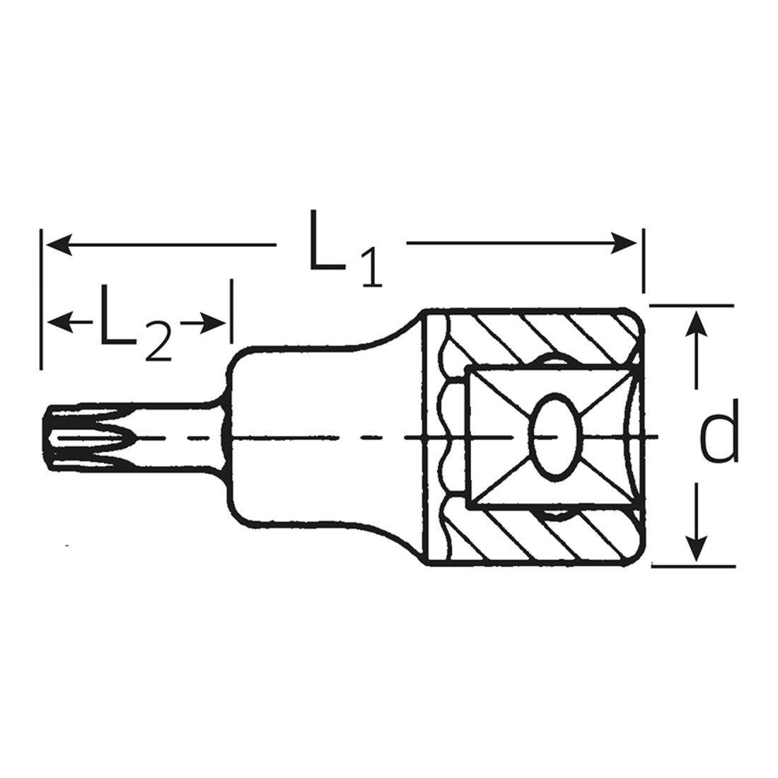 Stahlwille 54/TX T 70/ /SOCKET 1//2/TORX Inhex