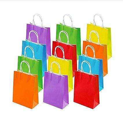 TOYANDONA - Juego de 30 bolsas de papel coloridas con asa ...