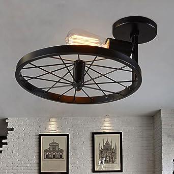 Industrial Retro Deckenlampe Persönlichkeit Wheel Light ...