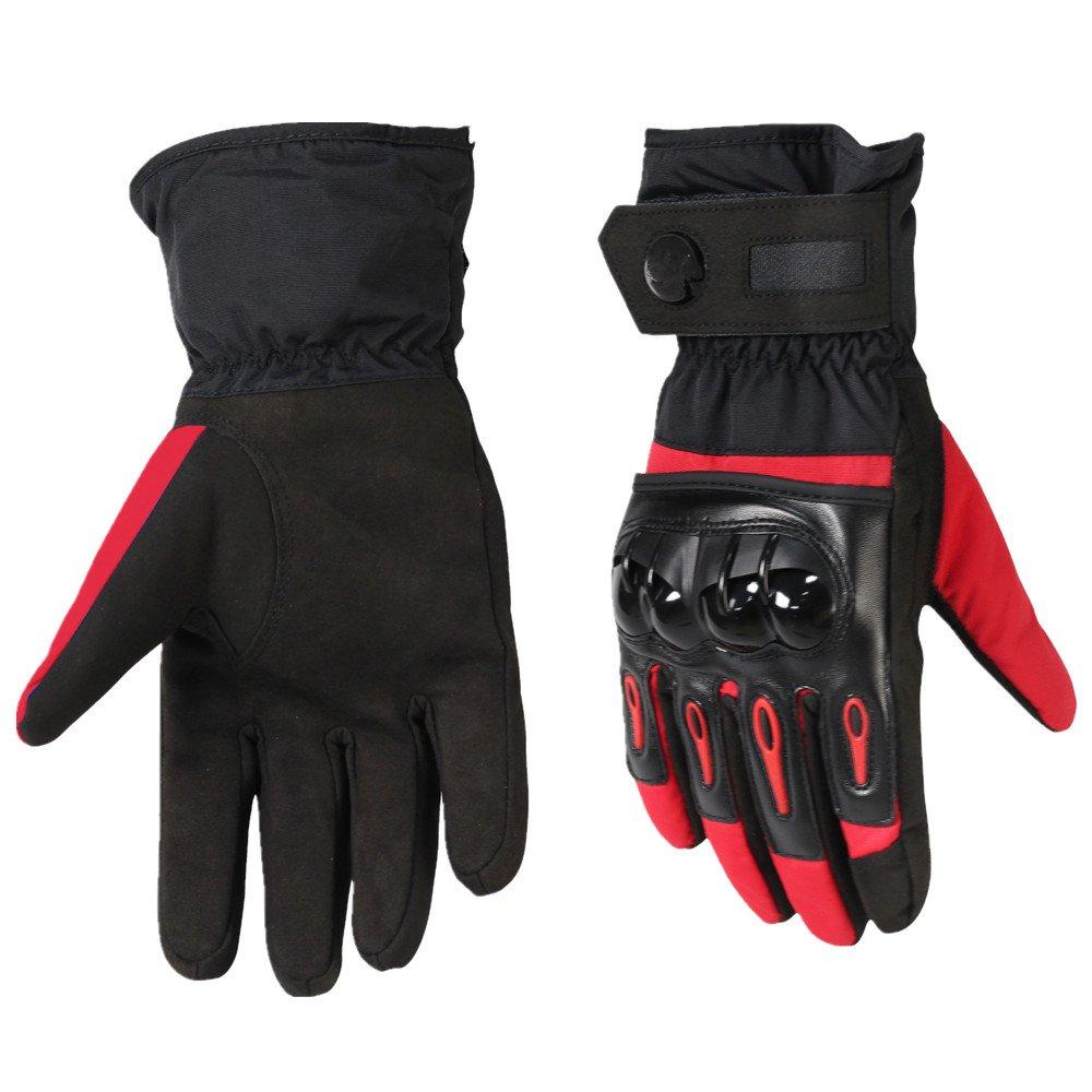QARYYQ Winter-Wasserdichte Und Kalte Warme Ski-Reithandschuhe, Anti-Fall-Motorradhandschuhe, Eine Vielzahl Von Farben Handschuh (Farbe   ROT, größe   M)