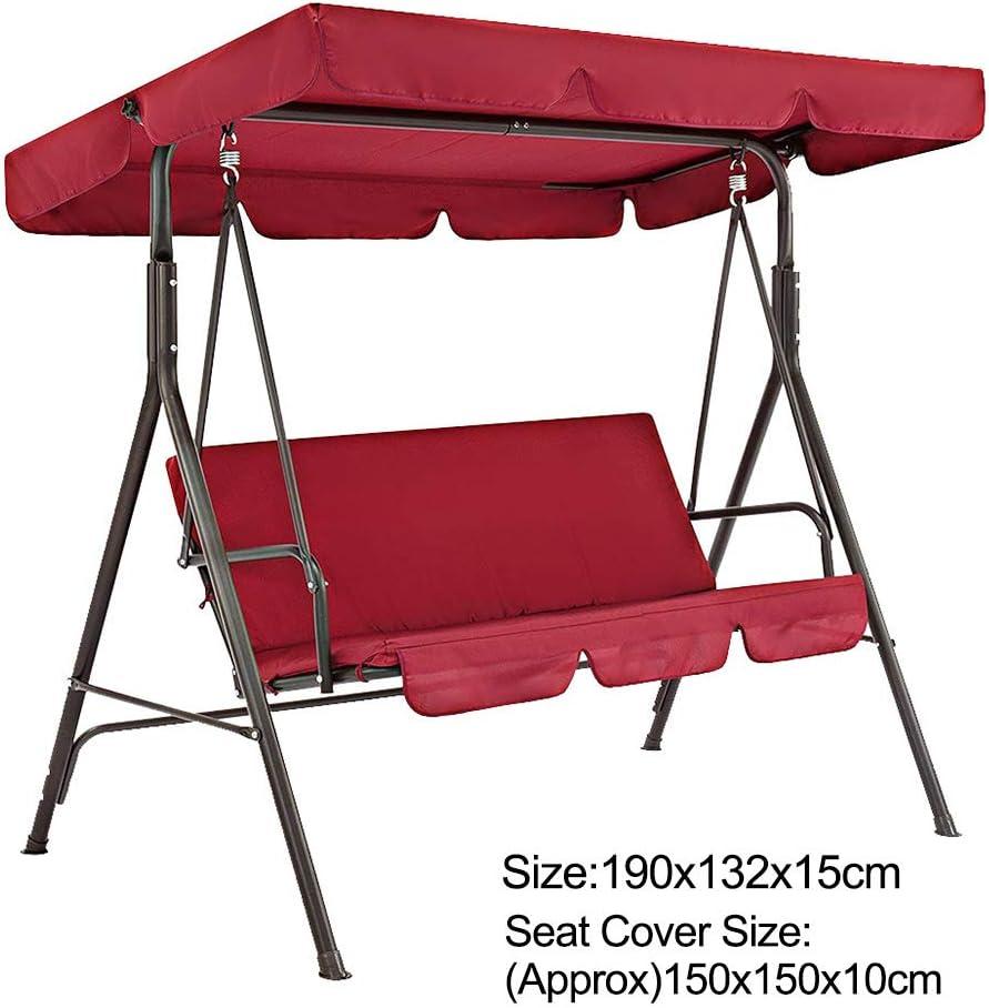 Beige 3 posti Non null impermeabile solido XHXseller resistente al sole e non sbiadisce Set di 2 coperture per mobili da giardino copertura protettiva per mobili da giardino 142x120x18cm