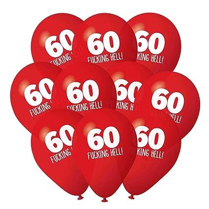 Gama de globos de cumpleaños 60: Amazon.es: Oficina y papelería