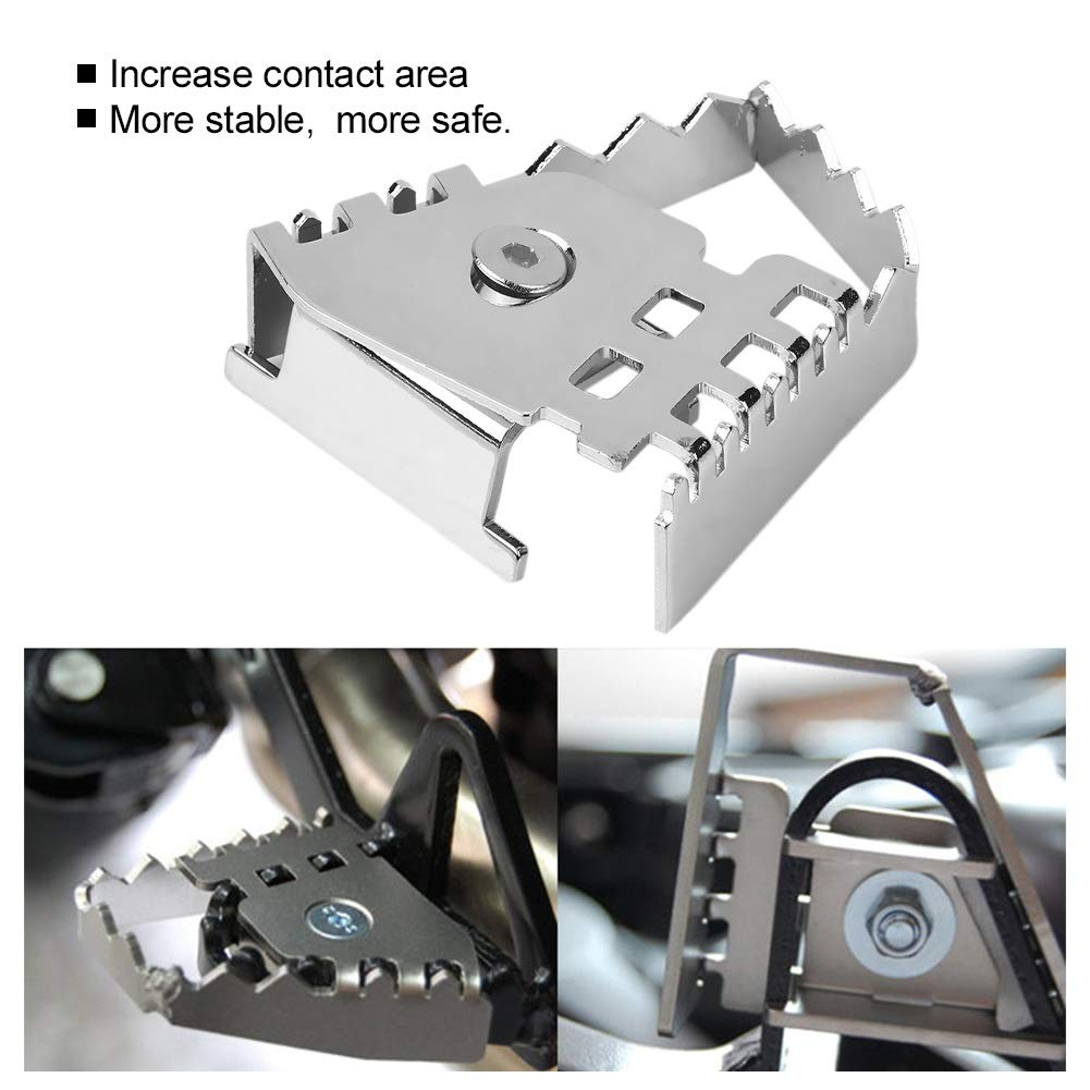 Couleur : Argent Extension de la p/édale de frein-Pied arri/ère de la p/édale de frein Agrandir Extension du prolongateur de rallonge pour BMW F800GS F700GS R1150GS R1200GS