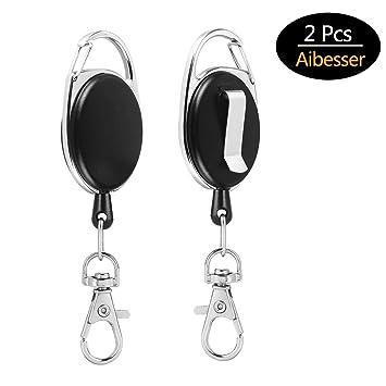 Ausziehbarer Schlüsselanhänger Schlüsselring Schlüsselband 65cm Key Ring Gürtel Luxus-accessoires