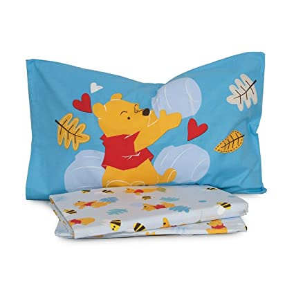 Lenzuola Flanella Disney Caleffi.Completo Lenzuola Winnie The Pooh Disney Caleffi Flanella Per Letto
