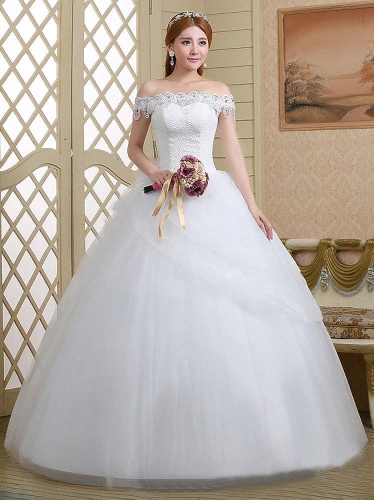 Eyekepper - Vestido de novia - corte imperio - Manga corta - Mujer blanco blanco X-Large: Amazon.es: Ropa y accesorios