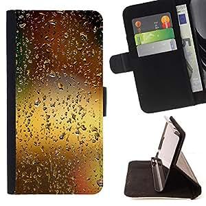 - Water Drop Bokeh - - Monedero PU titular de la tarjeta de cr????dito de cuero cubierta de la caja de la bolsa FOR Sony Xperia M2 RetroCandy