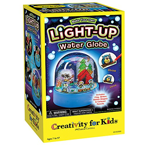 Faber Castell Creativity for Kids Make Your Own Light-Up Water Globe (Craft Water Globe)