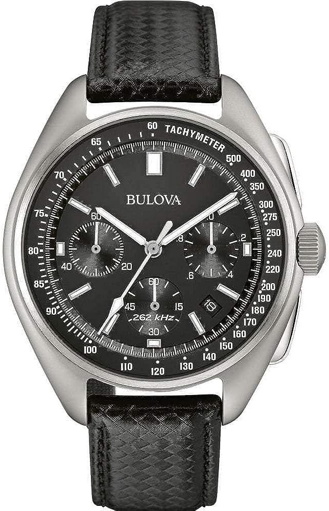 Bulova Luna–Reloj de Cuarzo para Hombre con cronógrafo para Hombre (Mecanismo de Cuarzo, Esfera Negra