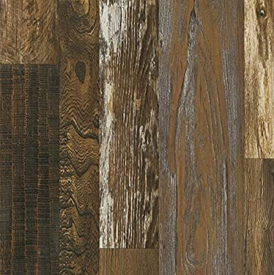 Armstrong L6626 Architectural Remnants Woodland Reclaim Laminate Flooring, Old Original Wood Brown