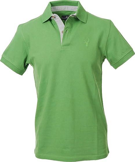 more photos 70ce3 2bf9b Herren Poloshirt, Trachtenpolo, Trachtenhemd Shirt, Baumwolle und Elasthan,  Kurzarm, in grün, blau und grau, alle Größen
