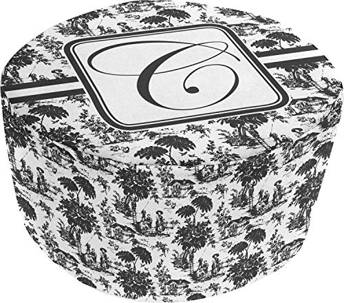 (YouCustomizeIt Toile Round Pouf Ottoman (Personalized))