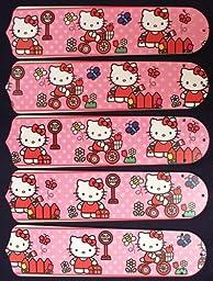 Ceiling Fan Designers 52SET-KIDS-HKSDK Hello Kitty Sweet Dreams 52 in. Ceiling Fan Blades Only