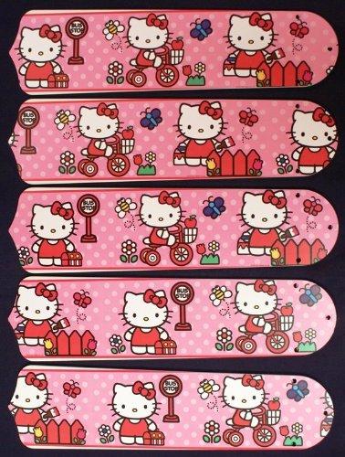 Ceiling Fan Designers 52SET-KIDS-HKSDK Hello Kitty Sweet Dreams 52 in Ceiling Fan Blades Only